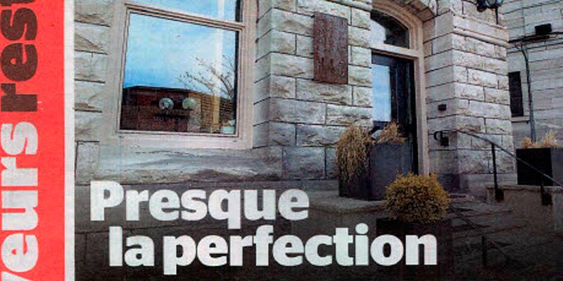 Le Journal de Montréal: Presque la perfection