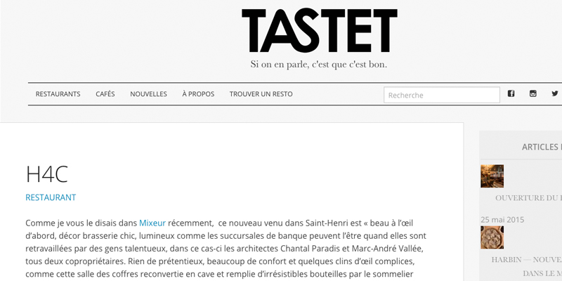 Tastet: H4C Restaurant