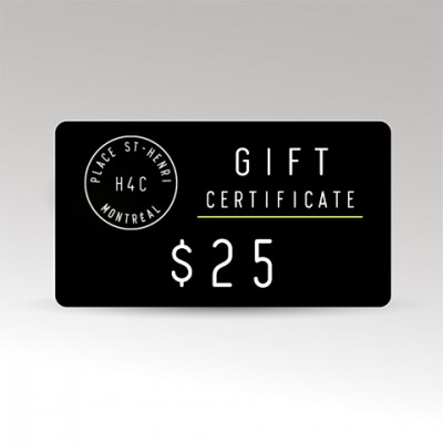 Restaurant le H4C 25 Gift Certificate