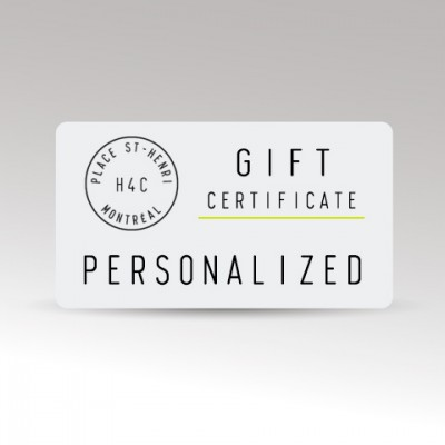 Restaurant le H4C Personalized Gift Certificate